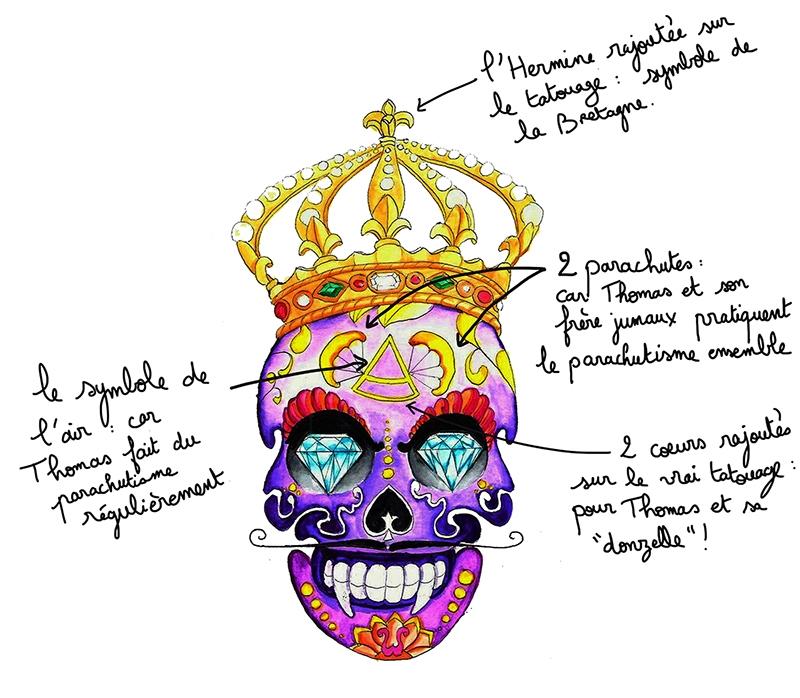 illustration tatouage dessin le tiroir de josephine